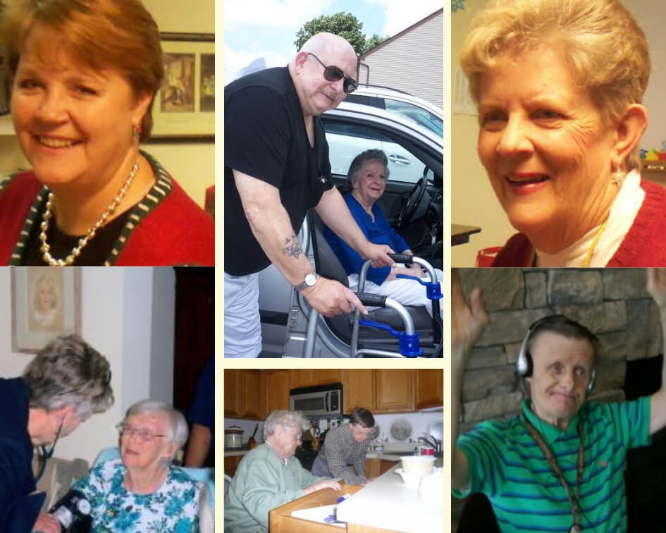 Collage of pictures from years of Community Care of the Northeast