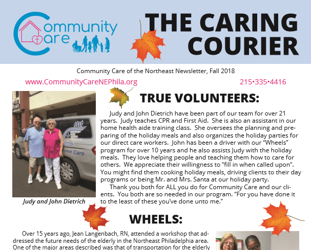 Community Care of the Northeast Fall Newsletter 2018 Sneak Peek