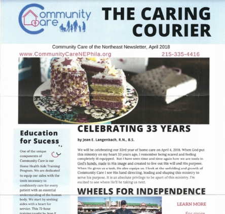 Spring Newsletter 2018 Community Care of Northeast Philadelphia