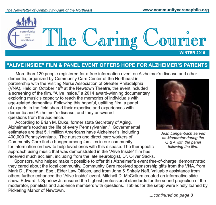 community care center ne Winter 2016